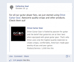 Collective Soul Orion Guitar Gear