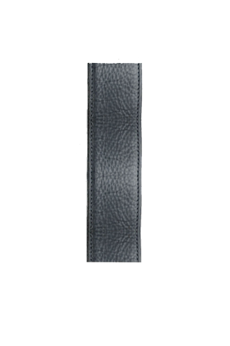 Orion black leather guitar strap