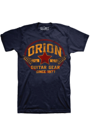 Orion blue guitar t-shirt