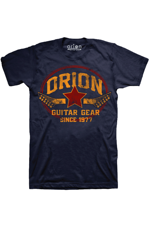 Orion blue guitar t-shirt