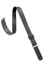 Black red leather guitar strap