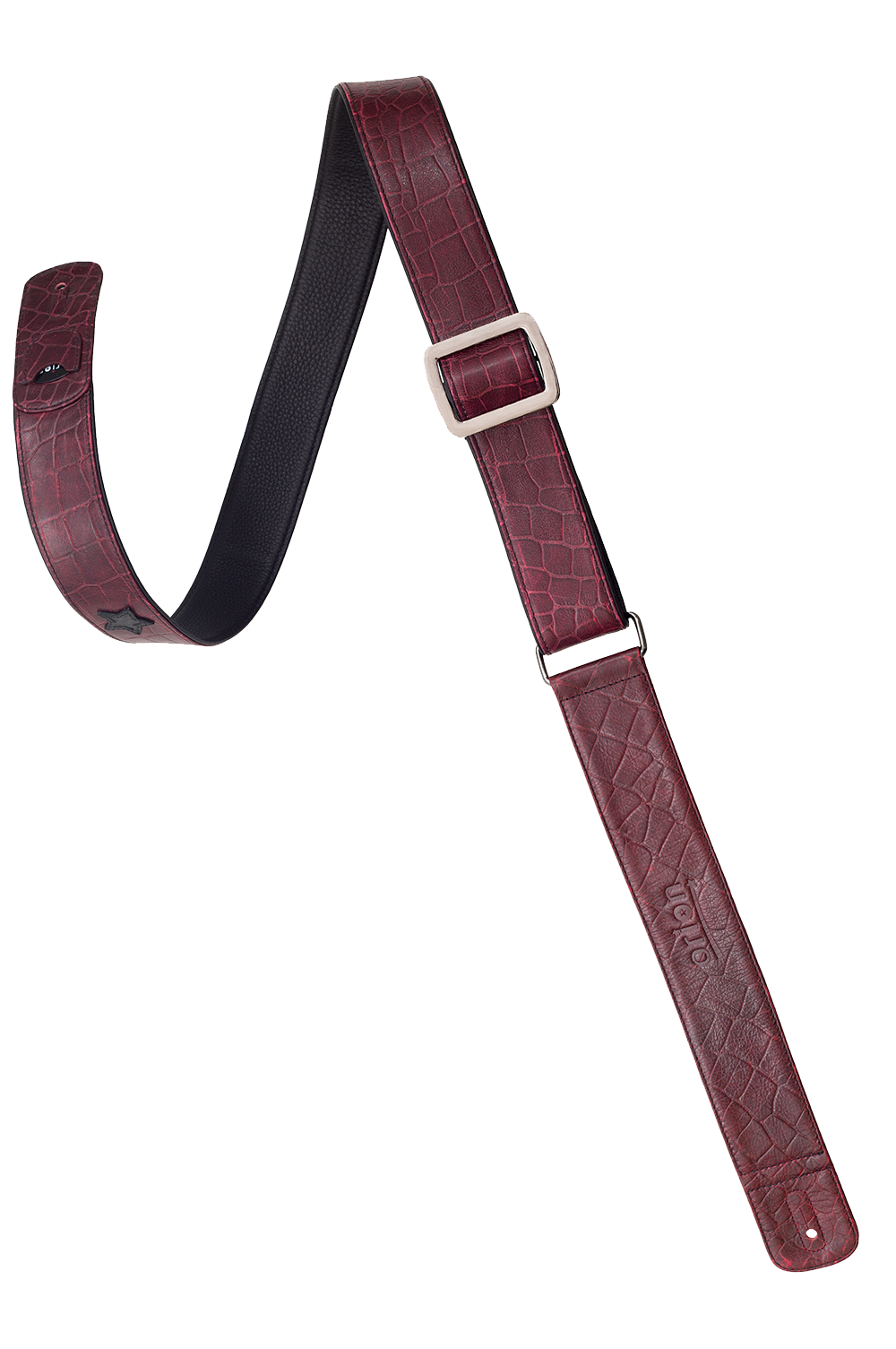 Crimson Sky Leather Guitar Strap
